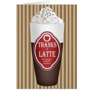Thanks a Latte (for a teacher) Card