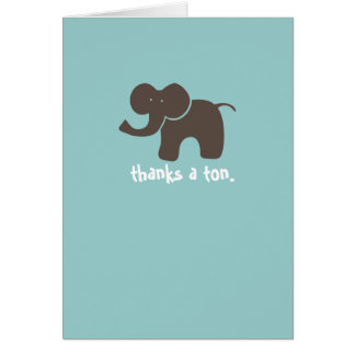 Thanks a tonne. greeting cards