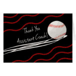 Thanks Assistant Baseball Coach, Fast Ball Greeting Card