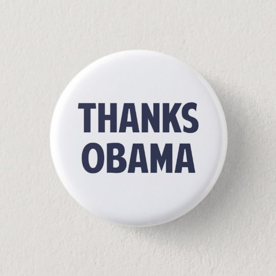 Thanks Barack Obama 3 Cm Round Badge