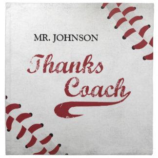 Thanks Baseball Coach Large Grunge Baseball Napkin