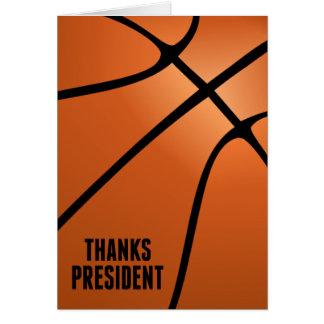 Thanks Basketball President for Your Leadership Greeting Card