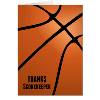 Thanks Basketball Scorekeeper for Your Hard Work Card