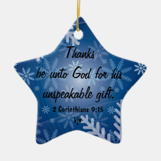 Thanks Be to God Christmas Ornament