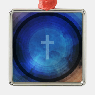 Thanks Be To God Silver-Colored Square Decoration