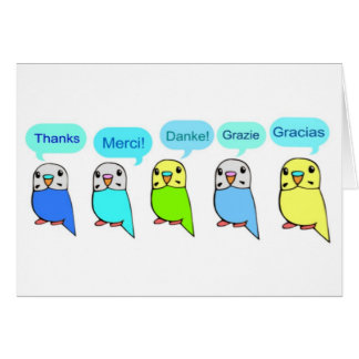 Thanks-budgies Card