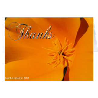 Thanks - California Poppy Note Card