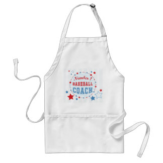 Thanks Coach All-Stars Baseball, Red, Blue Stripes Standard Apron
