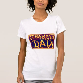 THANKS DAD -  Golden Text  Ideal Fathersday Gifts Tshirts