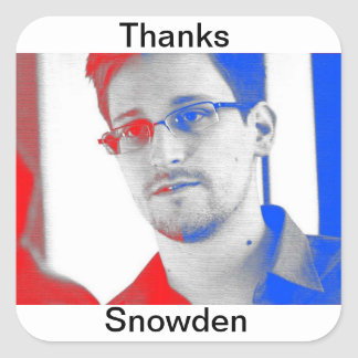Thanks Edward Snowden Square Sticker