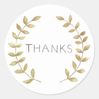 Thanks Envelope Seal Round Sticker