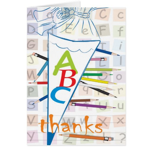 Thanks/first day at school greeting card