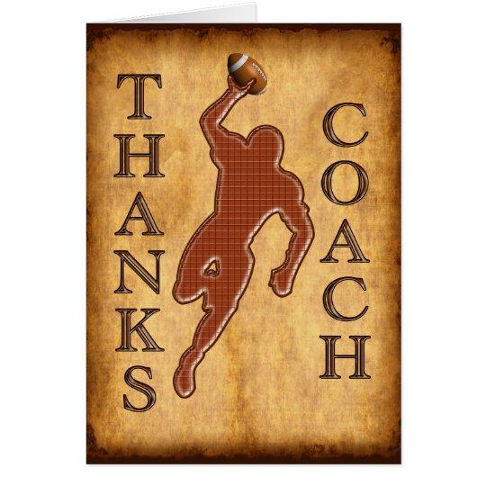 Thanks Football Coach Card Keep Change Inside TEXT