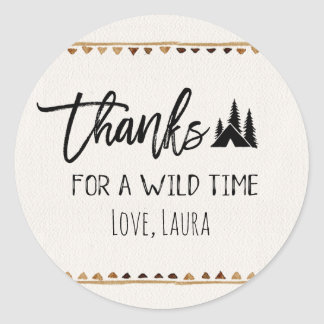 Thanks for a wilde time Thank You Stickers