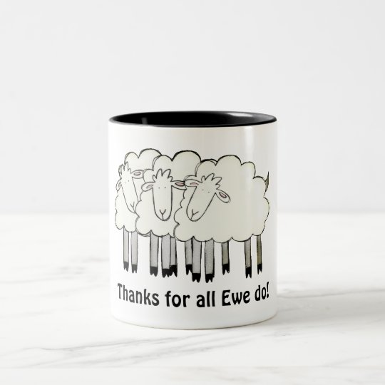 Thanks for all Ewe do! Two-Tone Coffee Mug