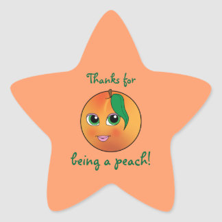 Thanks for Being a Peach Star Stickers