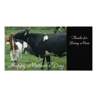 Thanks for Being Mom, Happy Mother's Day Personalized Photo Card