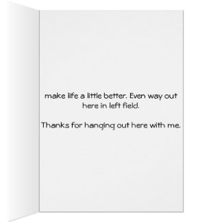 Thanks for being on my team greeting card