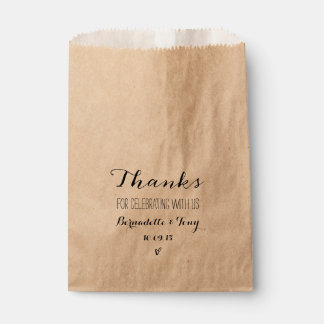 Thanks For Celebrating With Us! Chic Wedding Favor Favour Bags