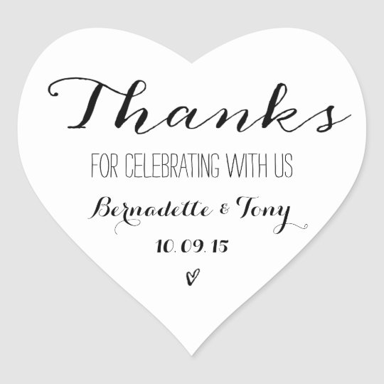 Thanks For Celebrating With Us! Wedding Thank You