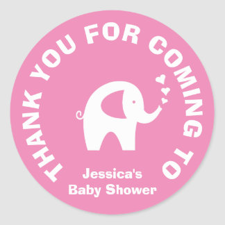 Thanks for coming baby shower party favor stickers