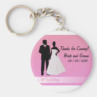 Thanks for Coming!  (Pink) Basic Round Button Key Ring