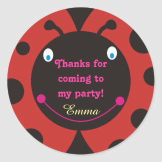 Thanks for coming to my party! Ladybug Stickers Sticker