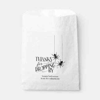 Thanks for Dropping By | Spider Halloween Candy Favour Bags