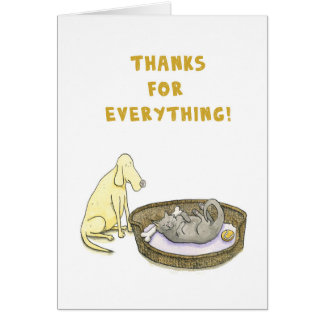 Thanks for everything! Dog and Cat card