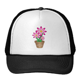 Thanks For Helping Me Grow - Happy Flower Cap
