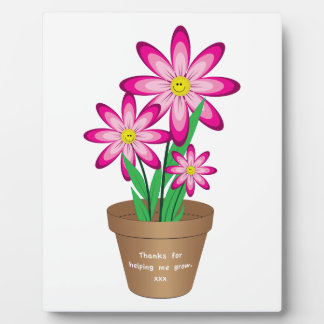 Thanks For Helping Me Grow - Happy Flower Plaque