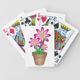 Thanks For Helping Me Grow - Happy Flower Poker Deck