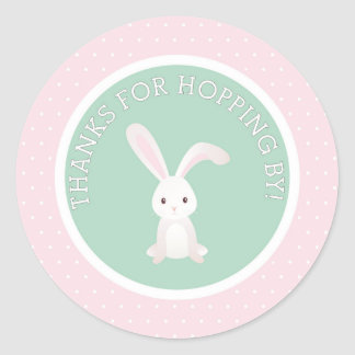 Thanks for Hopping by! Bunny Thank You Sticker