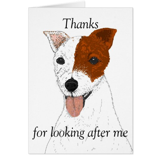 Thanks for looking after the dog cards customise