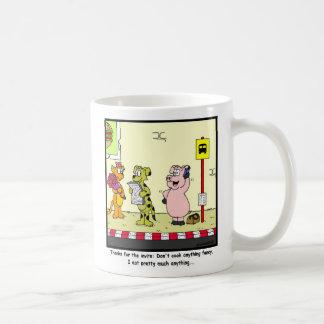 Thanks for the invite: Pig cartoon Basic White Mug