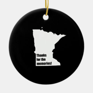 Thanks for the Memories Minnesota Christmas Ornament