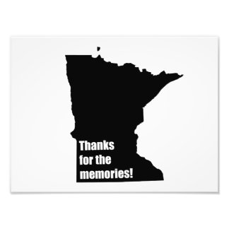 Thanks for the Memories Minnesota Photo Print