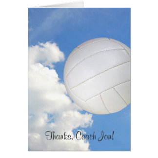 Thanks for volleyball coach card