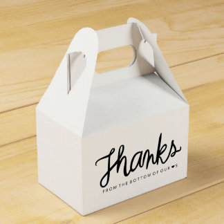 Thanks gable box favor box