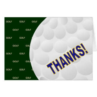 Thanks! - Golf Card