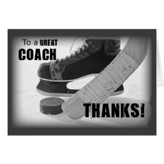 Thanks Hockey Coach Cards