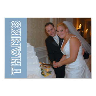 Thanks In Lights Thank You Notecard (Blue Gray) Announcements
