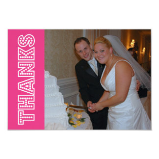 Thanks In Lights Thank You Notecard (Dark Pink) Invitation