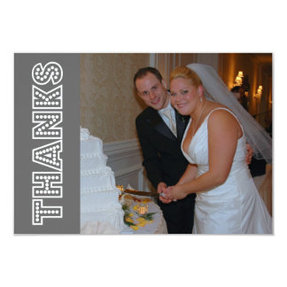 Thanks In Lights Thank You Notecard (Gray) Custom Announcements