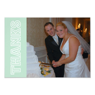 Thanks In Lights Thank You Notecard (Sage Green) Invites