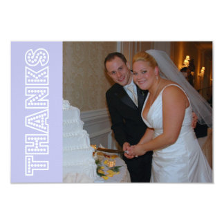 Thanks In Lights Thank You Notecard (Violet) Custom Announcements