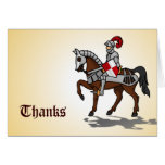 Thanks - Knight in shining armour Greeting Card