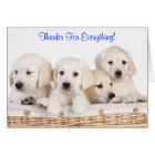 Thanks Labrador Retriever Puppy Dogs Card