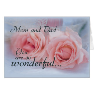 Thanks Mom and Dad, Wedding, Pink Rose Card