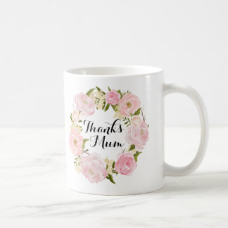 Thanks Mum pink floral mug mothers day